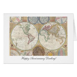 Welts-Karten-ab 1794 - glücklicher Jahrestag Karte