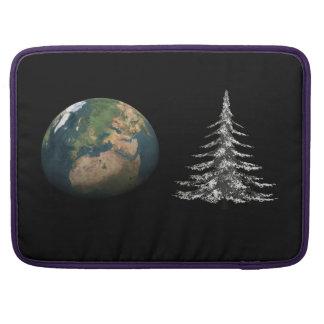 Weltweihnachten und Tannenbaum Sleeve Für MacBook Pro