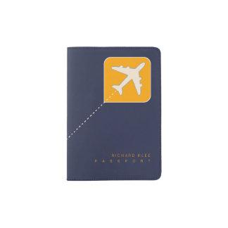 weltweite Flugzeugreise Passhülle