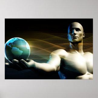 Weltweite Technologie-und Massen-Adoption des Poster