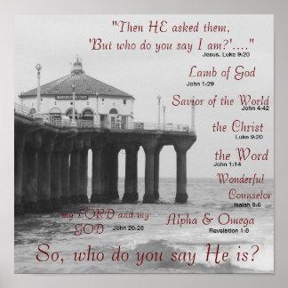 Wem sagen Sie Jesus Christus sind? Poster
