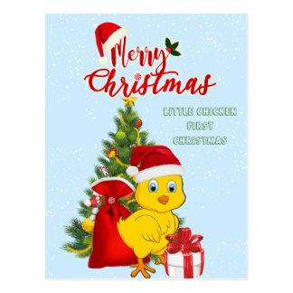 Wenig Baby-Huhn-Weihnachten Postkarte