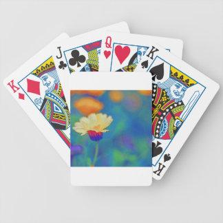 Wenig Blume auf dem Gebiet Poker Karten