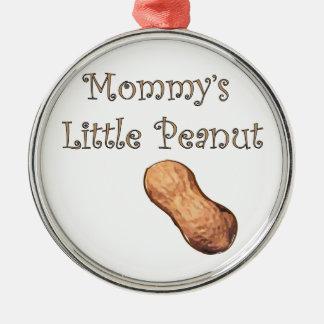 Wenig die Erdnuss-Verzierung der Mama Silbernes Ornament