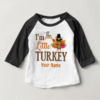 Wenig die Türkei-Erntedank-personalisierter T - Baby T-shirt