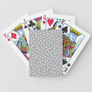 WENIG DREIECK-HÜGEL-MUSTER IN DEN PASTELLfarben Spielkarten