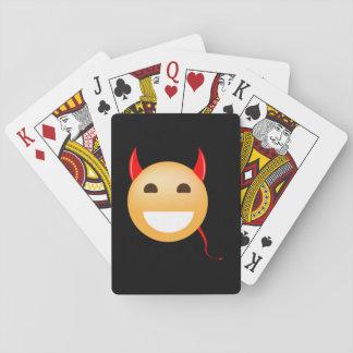 Wenig Emoji Teufel Spielkarten