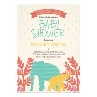 Wenig Erdnuss Elefant Babyparty Einladung Karte