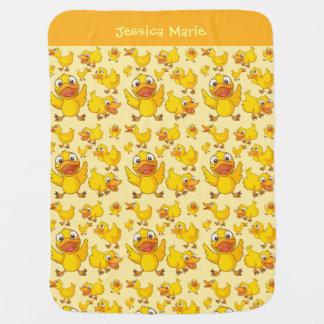 Wenig gelbe Duckies Baby-Decke