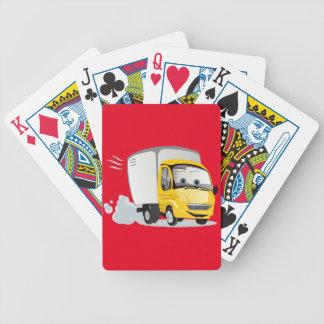 Wenig gelber Cartoon-LKW für Kinder! Bicycle Spielkarten