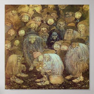 Wenig Gnome-Junge Poster