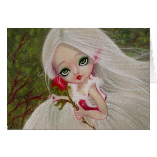 Wenig gotische Schönheits-Rosen-Gruß KARTE