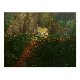 Wenig Haus in der großen Holz-Postkarte Postkarte