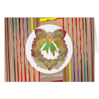 Wenig HERZEN: EHREwreath-Blume mit Blumen Karte