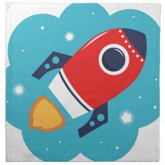 Wenig niedliches Rocket-Rot Serviette