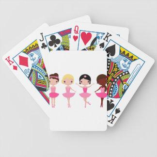 Wenig niedliches wunderbares rosa balerina bicycle spielkarten