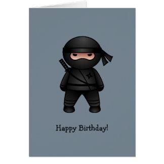 Wenig Ninja auf grauem alles Gute zum Geburtstag Karte
