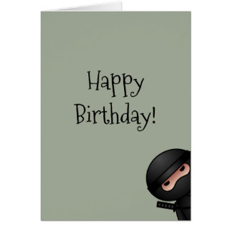 Wenig Ninja auf weises Grün-alles Gute zum Karte