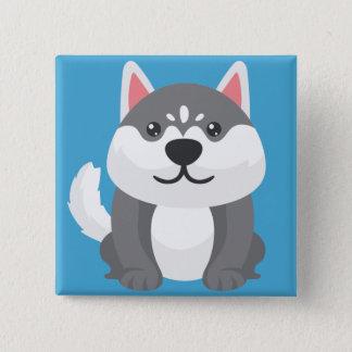 Wenig Pupppy Quadratischer Button 5,1 Cm