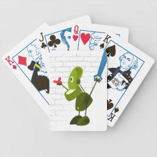 Wenig Roboter Pokerkarten