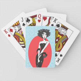 Wenig schwarzes Kleiderspielkarten Pokerdeck
