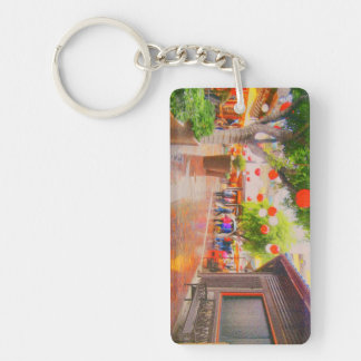 Wenig Tokyo-Dorf-Piazza, die Keychain malt Schlüsselanhänger