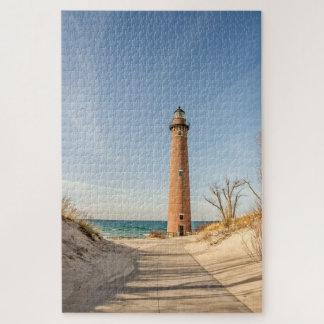 Wenig Zobel-Punkt-Leuchtturm auf Michigansee