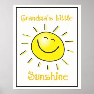 Wenige Grandkids der Großmutter der Sonnenschein, Poster