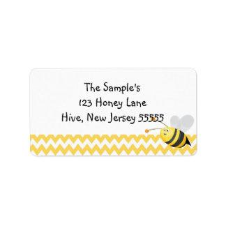 Wenige Honig-Aufkleber Adressaufkleber