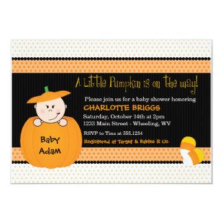 Wenige Kürbis-Halloween-Babyparty-Einladungen 12,7 X 17,8 Cm Einladungskarte