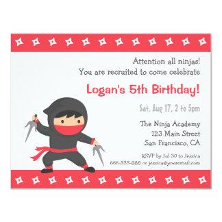 Wenige Ninja Kindergeburtstag-Party Einladungen