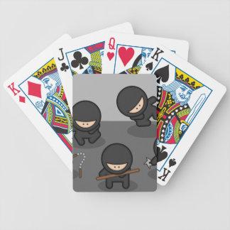 Wenige Ninjas Spielkarten! Poker Karten