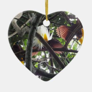 Wenige Paradiesvögel vom tropischen Regenwald Keramik Ornament