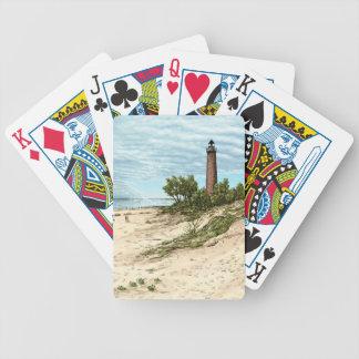 Wenige Punkt-Zobel-Leuchtturm-Spielkarten Bicycle Spielkarten