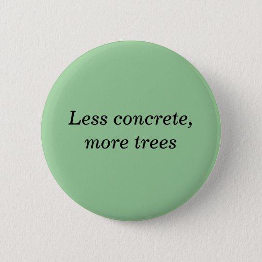 Weniger konkret, mehr Bäume Runder Button 5,1 Cm