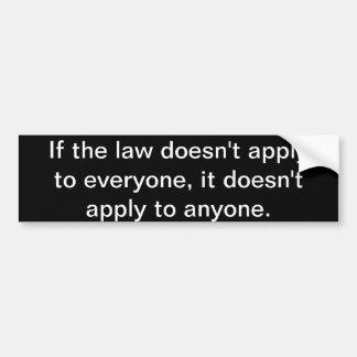 Wenn das Gesetz Autoaufkleber