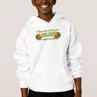 Wenn das Leben Ihnen Melonen übergibt Hoodie