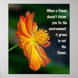 Wenn die Blume nicht… blüht Poster