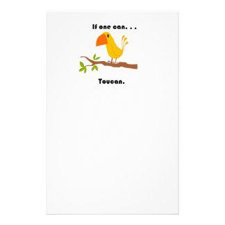 Wenn ein. kann. Toucan Cartoon Briefpapier