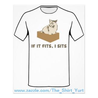 Wenn es passt, sitzt I Katze Vollfarbige Flyer