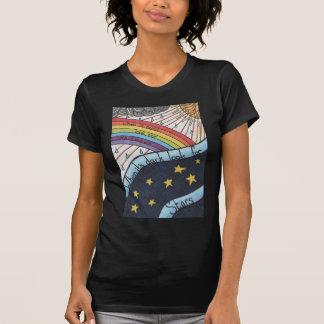 Wenn es regnet, suchen Sie nach Regenbogen T-Shirt