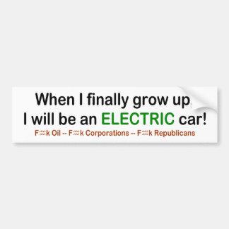 Wenn ich aufwachse, bin ich ein elektrisches Auto! Autoaufkleber