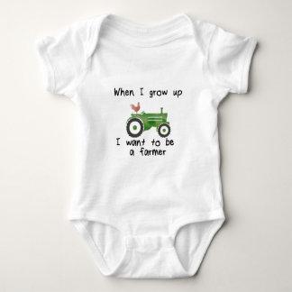Wenn ich aufwachse, will ich, um ein Bauer zu sein Baby Strampler