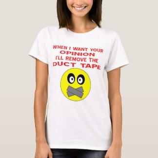 Wenn ich Ihre Meinung will, entferne ich das T-Shirt
