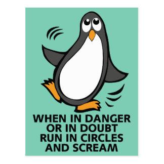 Wenn in der Gefahr oder Zweifels-in der lustigen Postkarte