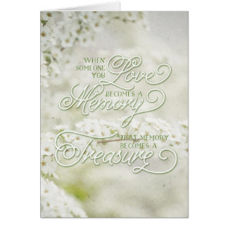 Wenn jemand Sie Liebe ein gehütetes Gedächtnis Grußkarte