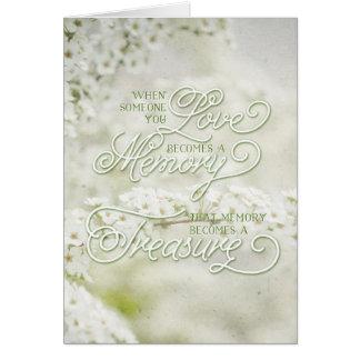 Wenn jemand Sie Liebe ein gehütetes Gedächtnis Karte