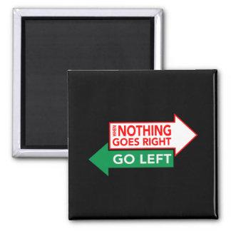 Wenn nichts nach rechts geht, gehen Sie links Quadratischer Magnet