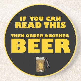 Wenn Sie dieses lesen können dann, bestellen Sie Getränkeuntersetzer
