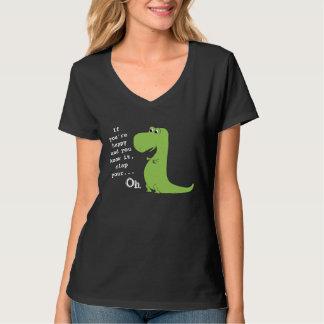 Wenn Sie glücklich sind, klatschen Sie TRex T-Shirt